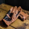 kuna customs brown leather motorcycle gloves