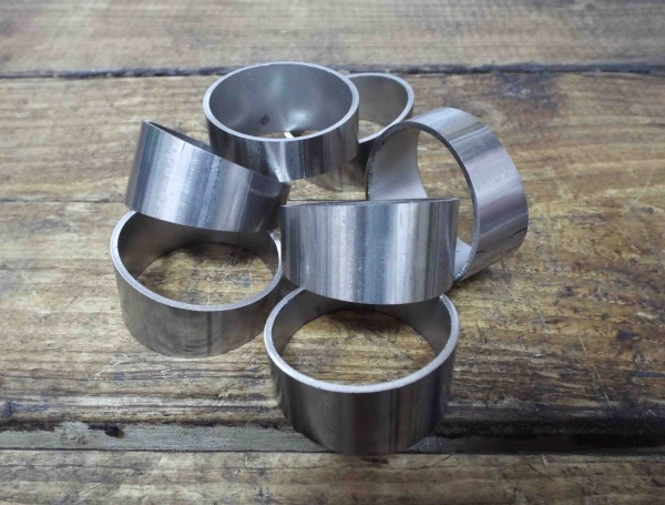 stainless steel exhaust pie cuts 38mm