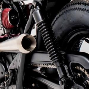 320mm rear shock black