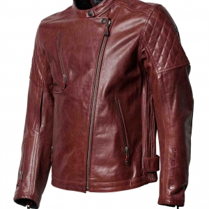 Roland Sands Design Clash RS Signature Oxblood Leather Jacket